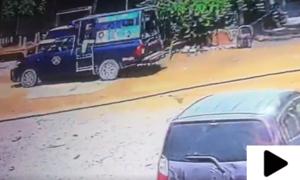کراچی میں پولیس مقابلے کی سی سی ٹی وی فوٹیج سامنے آگئی