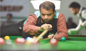 Haris joins senior trio in ranking snooker semis