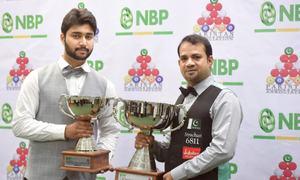 Experienced Sajjad thumps Haris to lift NBP ranking snooker title