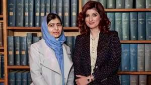 Twinkle Khanna breaks down in conversation with Malala Yousufzai