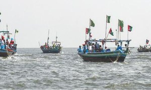 Boat rally taken out to oppose development of cities on islands