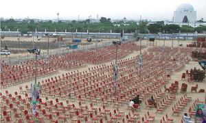 Stage set for PPP's power show under PDM banner in Karachi today