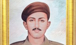Homage paid to Naik Saif for exemplary bravery