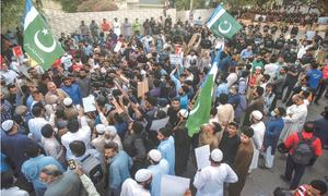 JI holds rally, calls for boycott of French products