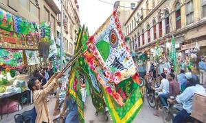 Karachi's Hassan Ali Effendi Road the hub for Eid-i-Milad memorabilia