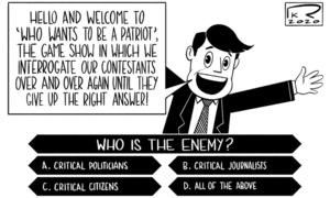 Cartoon: 1 November, 2020