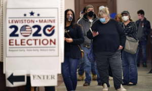 US on edge as poll day promises record turnout