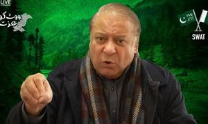 'Can't blame entire army for lawlessness of few individuals,' says Nawaz at PML-N's Swat power show