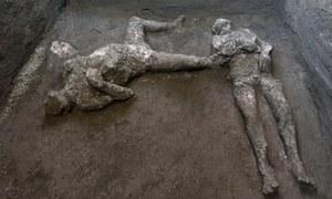 پومپئی کے کھنڈرات سے 2 ہزار سال پرانی 2 لاشیں درست حالت میں دریافت