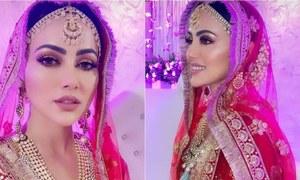 شوبز کو خیرباد کہنے والی ثنا خان نے اپنی شادی کی تصاویر شیئر کردیں