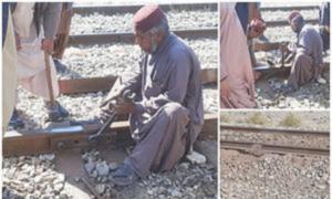 Railways track blown up near Mach