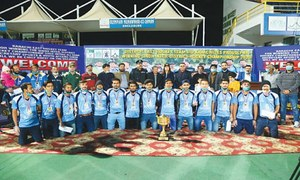 District East hockey team honoured for winning Sindh event