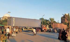Containers block PDM's Multan rally venue; over 100 workers held