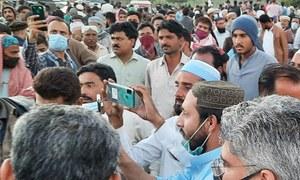 پاکستان اسٹیل ملز کے برطرف ملازمین کا نیشنل ہائی وے پر احتجاج