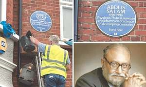 Dr Abdus Salam's London house declared heritage site
