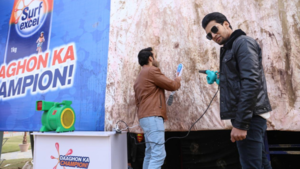 This brand washed a giant stained T-shirt in Lahore, proving it's the ultimate Daaghon Ka Champion