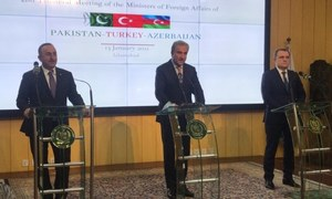 Pakistan, Turkey, Azerbaijan resolve to enhance cooperation, continue mutual support on national issues