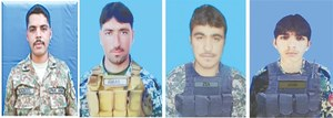 Four soldiers martyred in two gun battles