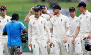 Leach stars as nervous England near victory