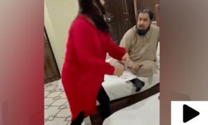 حریم شاہ کی مفتی عبدالقوی کو  تھپڑ مارنے کی ویڈیو