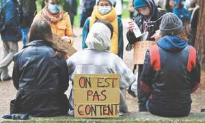 Struggling French students protest university closures