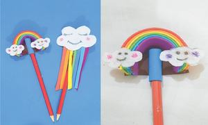 Wonder Craft: Rainbow pencil toppers