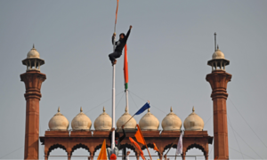 In pictures: Indian farmers enter Delhi's Red Fort as protests break out across the country