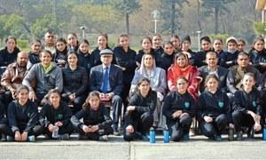 Minister appreciates talent of Chitrali female footballers