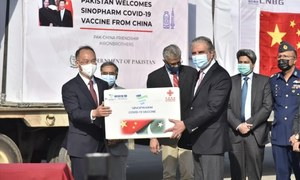 FM Qureshi calls first batch of vaccines from Beijing 'practical proof' of Pak-China friendship