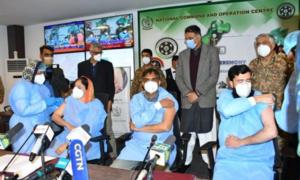 پاکستان بھر میں کورونا وائرس سے بچاؤ کی ویکسین لگانے کے عمل کا آغاز