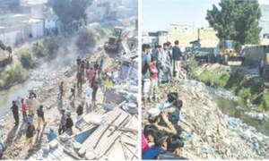 Poor families' hopes dashed as encroachments along Gujjar Nullah removed