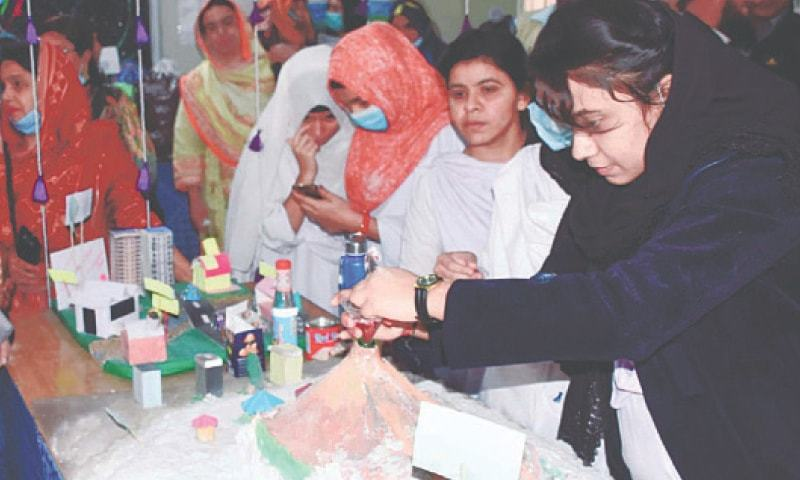 Three-day Science and Arts Festival begins at  Larkana girls college
