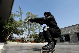 Police rollerblade unit prepares to zero in on criminals in Karachi
