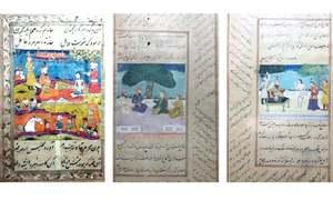 Miniature paintings from Saadi's Bustan displayed at Islamabad Museum