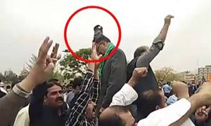 PML-N leaders, PTI workers come to blows outside NA ahead of PM trust vote