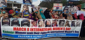 Rally held to draw world attention to plight of women in held Kashmir