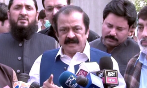 Sanaullah asks NAB to 'have courage' and not bar PML-N supporters during Maryam's appearance