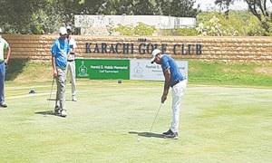 Shabbir roars to move joint-top with Hamza at Karachi Golf Club