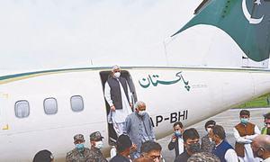 Flight lands at Saidu Sharif airport after 17 years
