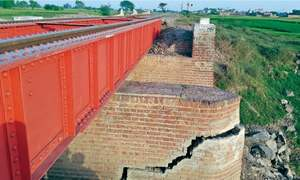 Dilapidated bridge poses a threat to trains' safety
