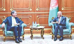 FM meets Ghani, voices concern over violence in Afghanistan