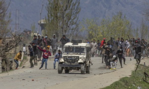 Anti-India clashes erupt in occupied Kashmir after troops kill 3 fighters