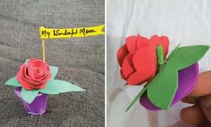 Wonder Craft: Flower pot for mum!