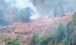 میانمار: باغی گروپ کا فوجی ہیلی کاپٹر مار گرانے کا دعویٰ