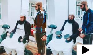 مولانا طارق جمیل کی جم میں ایکسرسائز کی ویڈیو وائرل