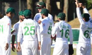 دوسرا ٹیسٹ: پاکستان کے 510 رنز کے جواب میں زمبابوے کے 4 کھلاڑی آؤٹ