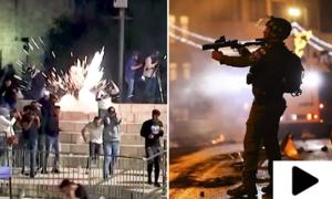 اسرائیلی فوج کا 27 ویں شب کو بھی مسجد اقصیٰ میں نمازیوں پر حملہ