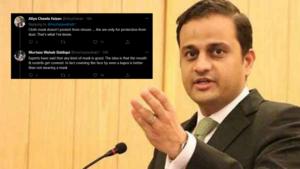 Twitter schools Murtaza Wahab on surgical masks versus cloth masks