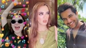Celebrities wish Pakistan an 'achanak' Eid mubarak with jokes, outfit goals and prayers