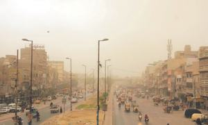 Four persons die as dust storm, drizzle hit parts of city
